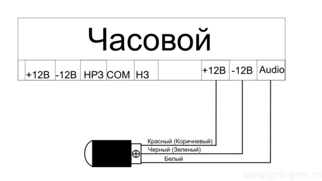 Схема подключения: Микрофон