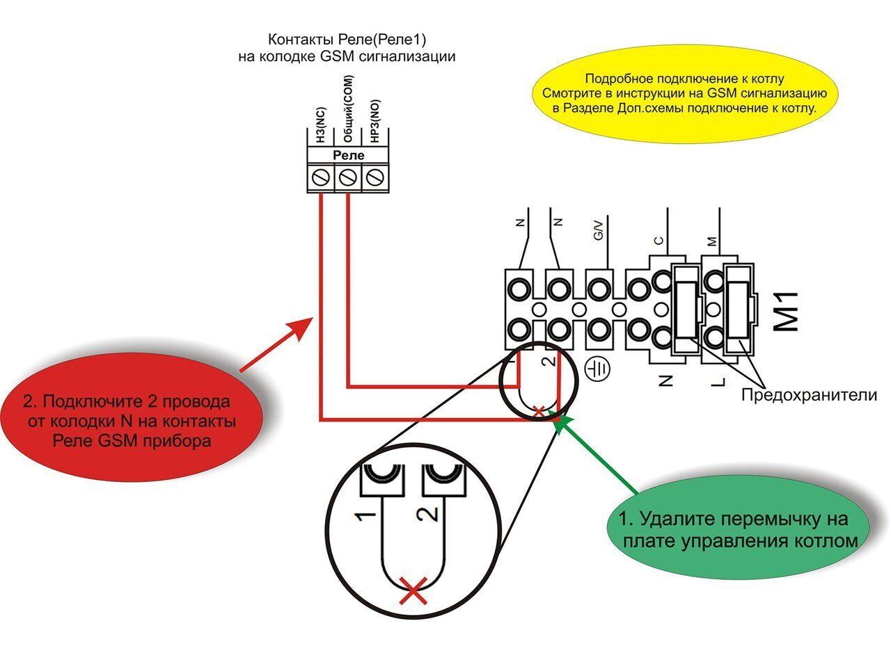 Схема подключения газовых котлов Baxi Main Fouf