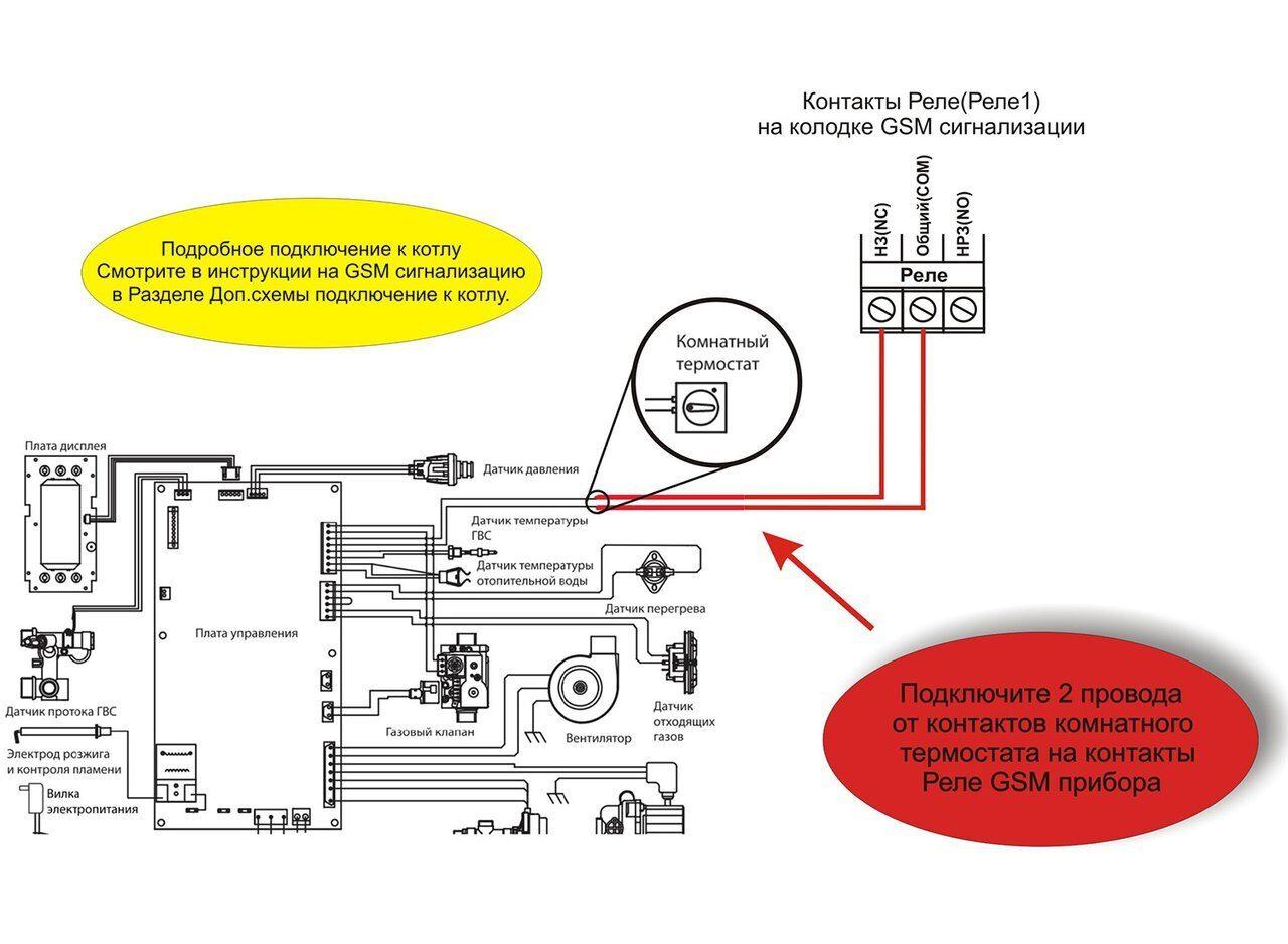 Схема подключения газового котла Alphaterm Sigma ECO PTD