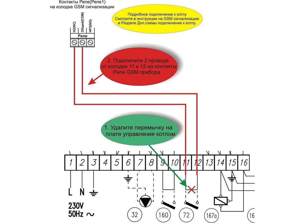 Схема подключения газового котла Ferroli PEGASUS