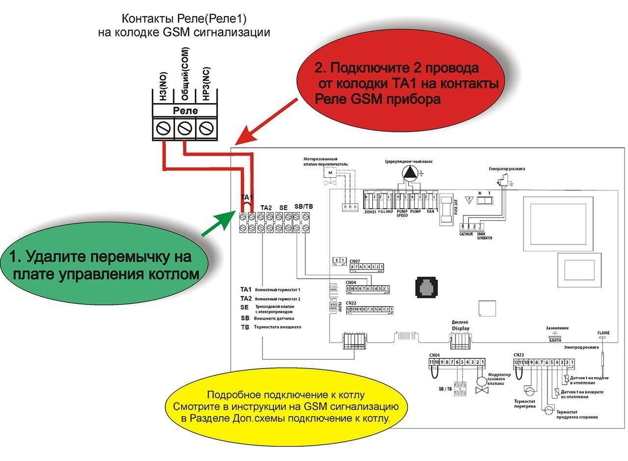 Схема подключения газового котла Ariston Egis Plus 24 CF