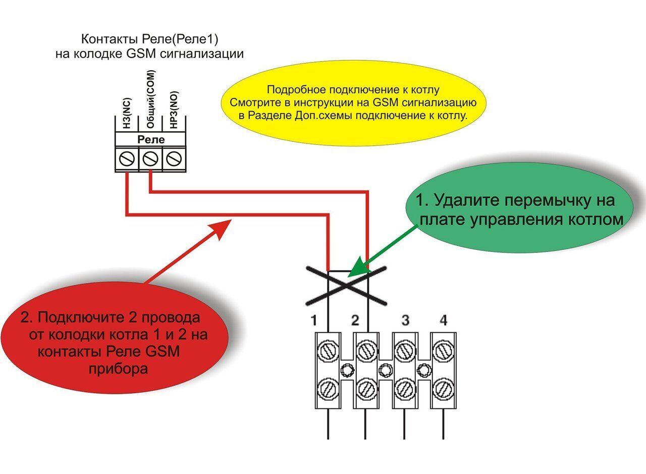Схема подключения газового котла Биаси бойлерский