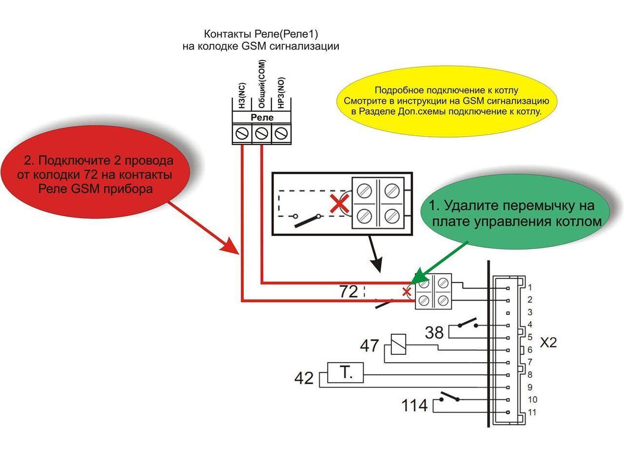 Схема подключения газового котла Ferroli DOMINA F