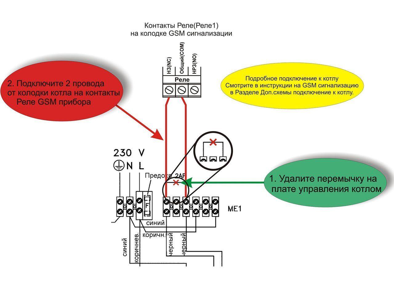 Схема подключения газового котла Беретта Эксклюзив