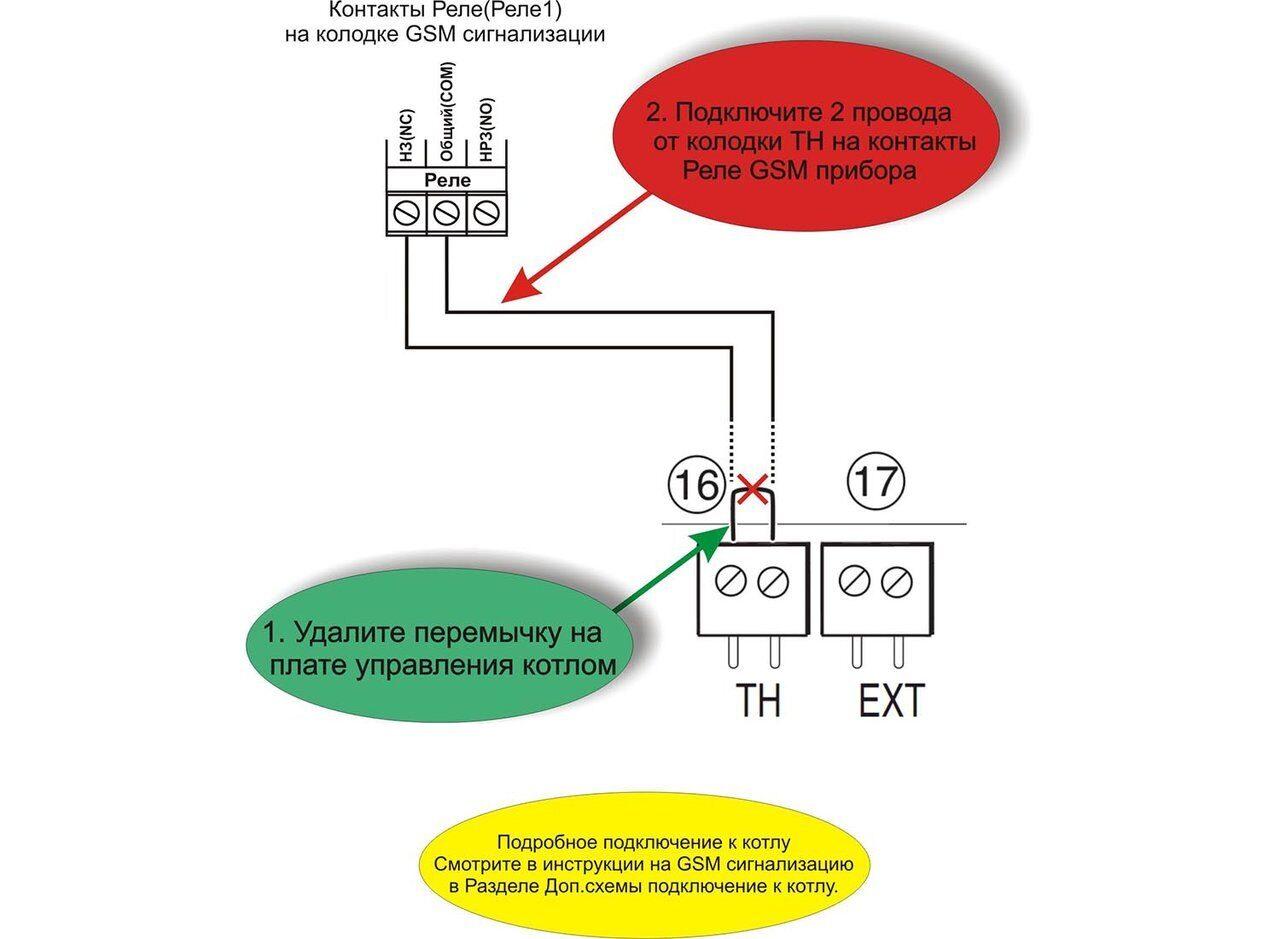 Схема подключения газового котла Bosch GAZ 6000w