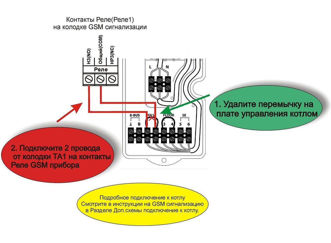 Схема подключения газовых котлов Clas B 24 CF / 24 FF / 30 FF и Ariston Clas B Premium 24 / 30