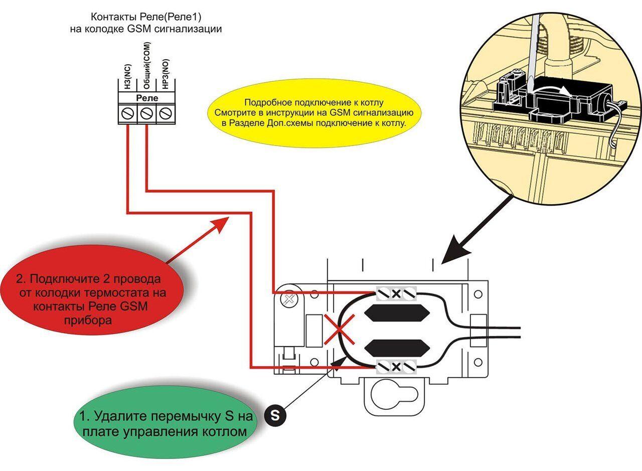 Схема подключения газового котла Chaffoteaux