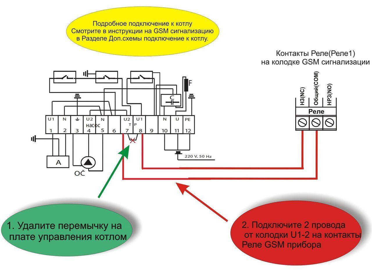 Схема подключения газового котла Alphaterm Beta