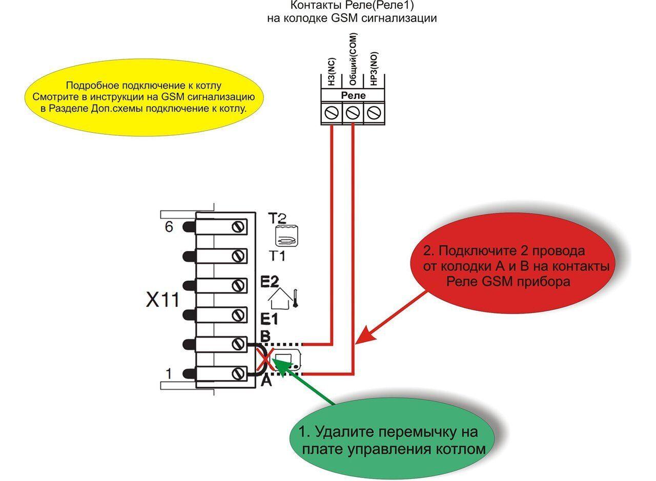 Схема подключения газового котла Биаси Иновия