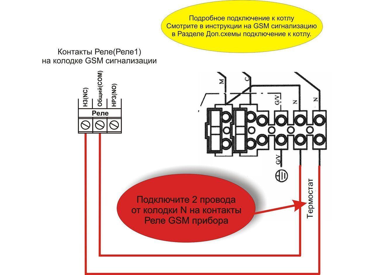 Схема подключения газовых котлов Baxi Luna-3 Comfort