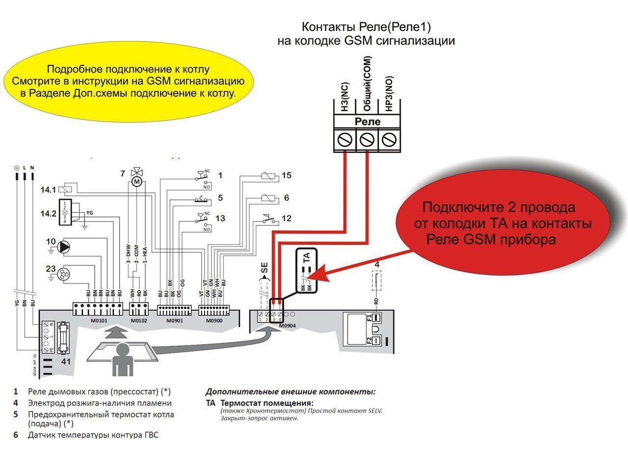 Схема подключения котла Baltur Tesis
