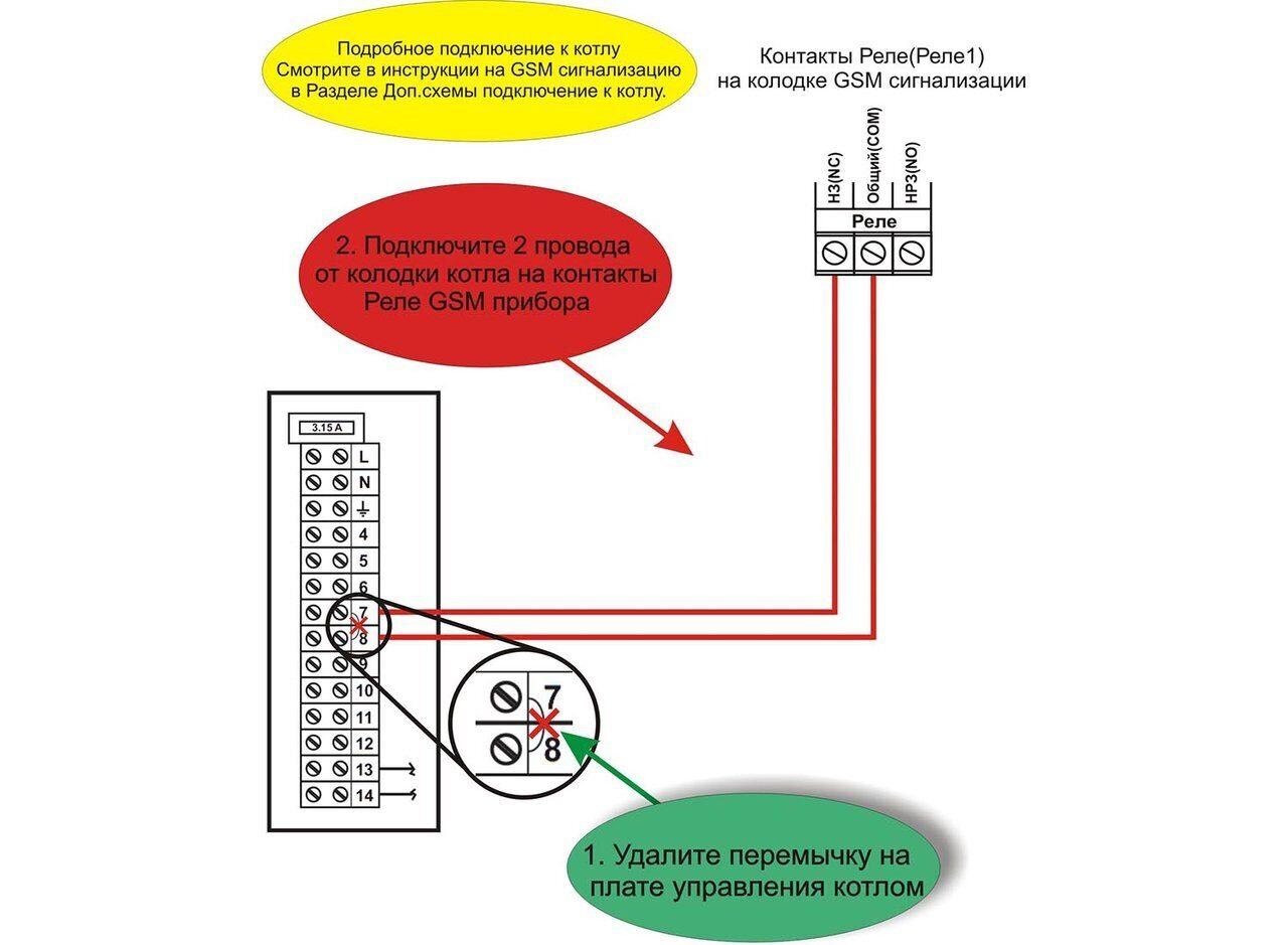 Схема подключения газового котла Ferroli SFL