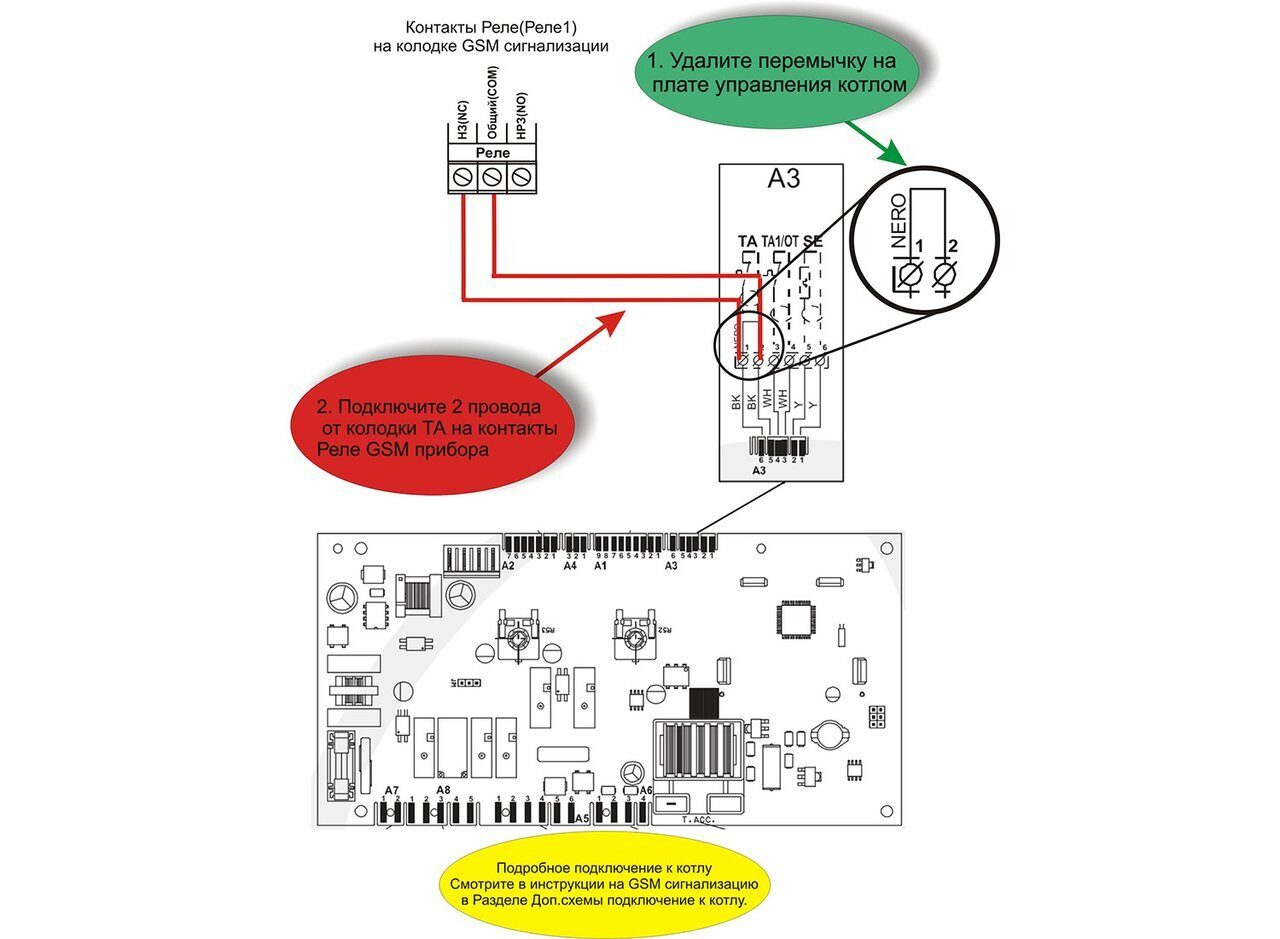 Схема подключения газового котла Alphaterm Sigma